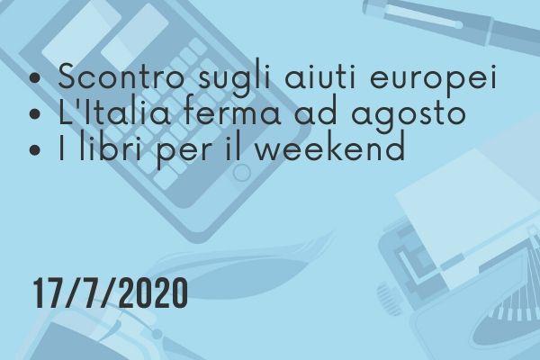 Il Buongiorno di PdM: l'Italia che si ferma ad agosto