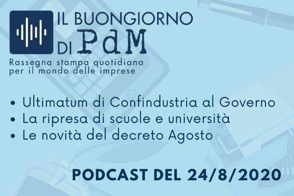 Il Buongiorno di PdM: ultimatum di Confindustria al Governo