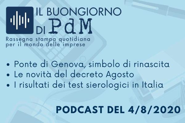 Il Buongiorno di PdM: il ponte di Genova come simbolo di rinascita